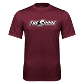 Performance Maroon Tee-The Shore