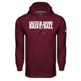 Under Armour Maroon Performance Sweats Team Hoodie-Basketball Stacked