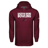 Under Armour Maroon Performance Sweats Team Hoodie-Bowling Stacked