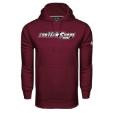 Under Armour Maroon Performance Sweats Team Hoodie-Maryland Eastern Shore Hawks