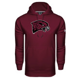 Under Armour Maroon Performance Sweats Team Hoodie-Hawk Head
