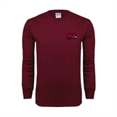 Maroon Long Sleeve T Shirt-MEAC Volleyball Champions 2016