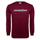 Maroon Long Sleeve T Shirt-Eastern Shore
