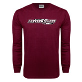 Maroon Long Sleeve T Shirt-Maryland Eastern Shore Hawks