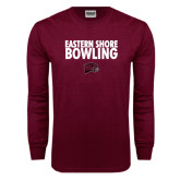 Maroon Long Sleeve T Shirt-Bowling Stacked