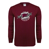 Maroon Long Sleeve T Shirt-2012 Volleyball Champions MEAC