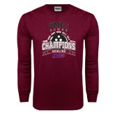 Maroon Long Sleeve T Shirt-MEAC Bowling Champions Multi-year