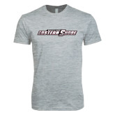 Next Level SoftStyle Heather Grey T Shirt-Primary Mark