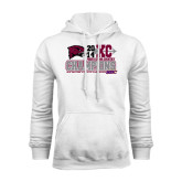 White Fleece Hood-2014 Mens Cross Country Champions Stacked
