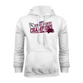 White Fleece Hood-2014 Mens Cross Country Champions Rise