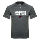 Under Armour Carbon Heather Tech Tee-Baseball Stacked