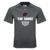 Under Armour Carbon Heather Tech Tee-Basketball Net Design