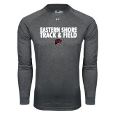 Under Armour Carbon Heather Long Sleeve Tech Tee-Track and Field Stacked