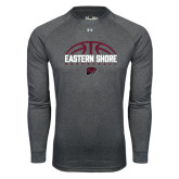 Under Armour Carbon Heather Long Sleeve Tech Tee-Basketball Half Ball Design
