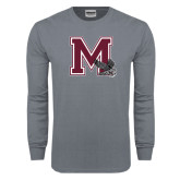 Charcoal Long Sleeve T Shirt-M w/ Hawk
