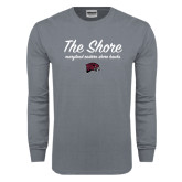 Charcoal Long Sleeve T Shirt-The Shore Script