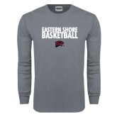 Charcoal Long Sleeve T Shirt-Basketball Stacked