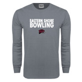 Charcoal Long Sleeve T Shirt-Bowling Stacked