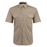 Khaki Short Sleeve Performance Fishing Shirt-Eastern Shore