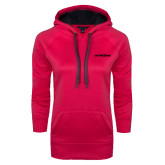 Ladies Pink Raspberry Tech Fleece Hooded Sweatshirt-Primary Mark