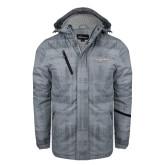 Grey Brushstroke Print Insulated Jacket-Eastern Shore