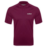 Maroon Textured Saddle Shoulder Polo-The Shore