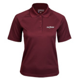 Ladies Maroon Textured Saddle Shoulder Polo-The Shore