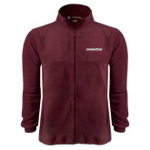 Fleece Full Zip Maroon Jacket-Eastern Shore