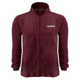 Fleece Full Zip Maroon Jacket-The Shore