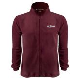 Fleece Full Zip Maroon Jacket-The Shore