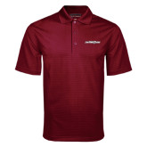 Maroon Mini Stripe Polo-Primary Mark