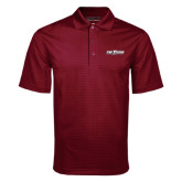 Maroon Mini Stripe Polo-The Shore