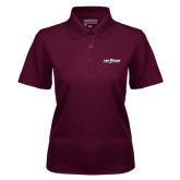 Ladies Maroon Dry Mesh Polo-The Shore