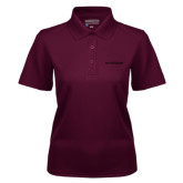 Ladies Maroon Dry Mesh Polo-Primary Mark