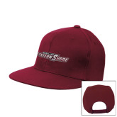 Maroon Flat Bill Snapback Hat-Primary Mark