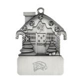Pewter House Ornament-Hawk Head Engraved