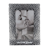 Silver Textured 4 x 6 Photo Frame-Primary Mark Engraved