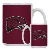 Full Color White Mug 15oz-Hawk Head