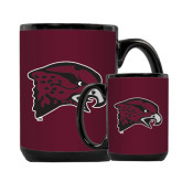 Full Color Black Mug 15oz-Hawk Head