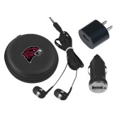 3 in 1 Black Audio Travel Kit-Hawk Head