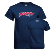 Navy T Shirt-Roadrunners with Head