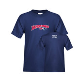 Youth Navy T Shirt-Roadrunners with Head