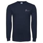 Navy Long Sleeve T Shirt-School of Education Full Color