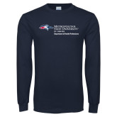 Navy Long Sleeve T Shirt-Department of Health Professions