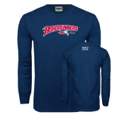 Navy Long Sleeve T Shirt-Roadrunners with Head