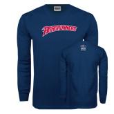 Navy Long Sleeve T Shirt-Roadrunners
