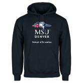 Navy Fleece Hoodie-School of Education Stacked
