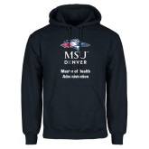 Navy Fleece Hoodie-Master of Health Administration Vertical
