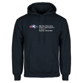 Navy Fleece Hoodie-Department of Social Work