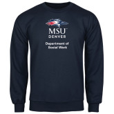 Navy Fleece Crew-Department of Social Work